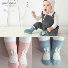 New!! 2017 Spring/Autumn Winter Baby Cartoon Star Cotton Socks Boys Girls Newborn Infant Toddler Anti-slip Floor Wear Quality(China)