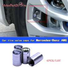 4pcs/lot Car-styling Car Wheel Tire Valves Tyre Stem Air Caps Airtight Cover Case for Mercedes Benz AMG $(China)
