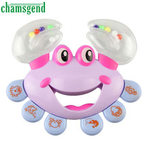 Hot Chamsgend Plastic Crab Toy Jingle Baby Kid Musical Educational Shaking Rattle Handbell Sep01
