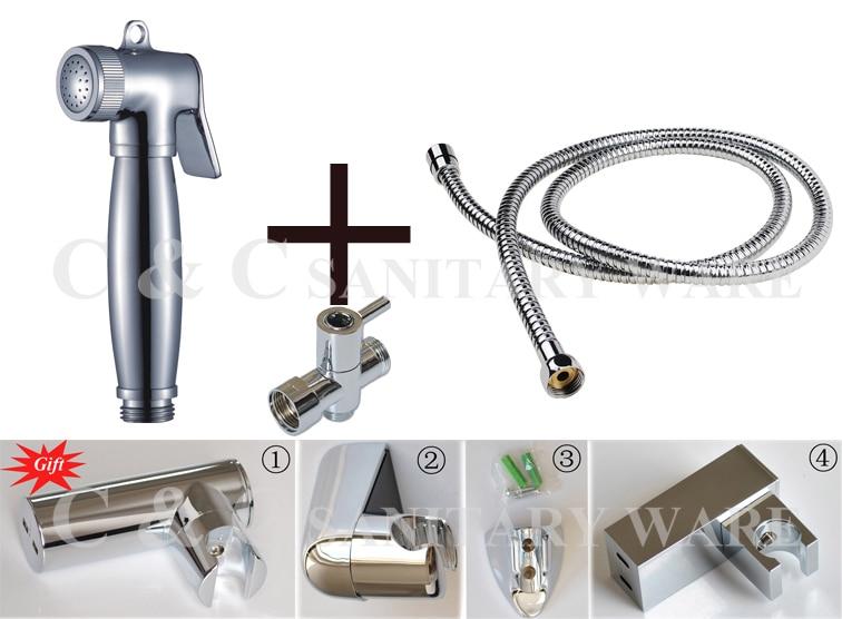 G1/2, G7/8, G3/4, M18X1.5L Optional Water Segregator Single Handle Brass Chrome Shattaf Portable Bidet A2010ST<br><br>Aliexpress