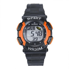 9s & cheap Men Fashion LED Digital Alarm Date Rubber Army Watch Waterproof Sport Wristwatch High quality watch   M 28 0717