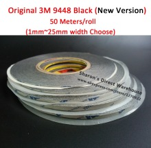 Original 3M 9448AB Black Double Sided Sticky Tape for Samsung/HTC/iphone/ipad Phone Tablet Camera TouchScreen LCD Glass 1mm~25mm(China)