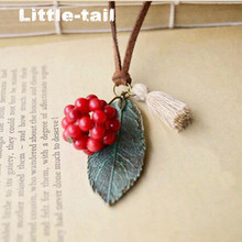 New Arrival Handmade Wood Glass Deer Necklaces & Pendants For Women Personalized Jewelry Accessories Wholesale
