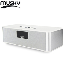 MUSKY DY21L Mini HIFI V4.0 Bluetooth Speakers with Stereo FM AUX Wireless Super Bass Built in Mic Boombox Time Alarm FM Mode