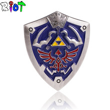The Legend of Zelda Shield Badge Brooch 2color Anime Cartoon Cool Badge Medal pin badge Souvenir Collectible Accessory lapel pin