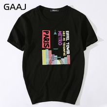 Men T Shirts Mens Streetwear Paris Eiffel Tower T-shirts For Man High Quality Clothes Plus Size Short sleeve Tops Tees Male T-sh