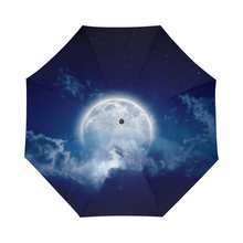 Galaxy Space Universe Nebula Cloud Moon Pattern Personalized Auto Umbrella Cool Design Custom Auto Sunny Rainy Umbrella