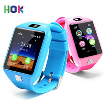 HOK Smart Watch DZ09 Support SIM TF Cards For Android IOS Phone Children Camera Women Bluetooth Watch With Retail Box Russia(China)