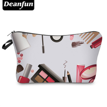 Deanfun 3D Printed 2017 Hot Sale Storage Makeup Zipper Polyester Travel Organizer Necessary Women's Fashion Cosmetic Bag 50753(China)