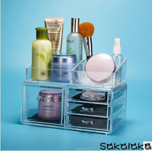 transparent cosmetics jewelry boxes large articles for daily use cosmetic box suits acrylic desktop accessories storage box