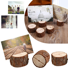 10 pcs/lot Wooden Wedding Party Table Number Stand Place Name Memo Card Holder Casamento Mariage(China)