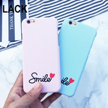 LACK Stripe Smile Phone Case For iphone 6 Case For iphone 6S 6 plus cover Love Heart Blue And White Stripe Capa coque Funda NEW(China)
