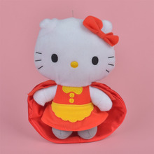 18cm Red Cloak Hello Kitty Plush Toy, Girl Baby Gift, Kids Doll Wholesale with Free Shipping(China)