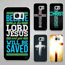 Christian Jesus The Cross Hard White Coque Shell Case Cover Phone Cases for Samsung Galaxy S4 S5 S6 S7 Edge Plus(China)