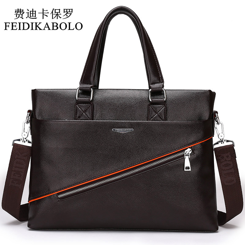 2016 Men Casual Briefcase Business Shoulder Bag Leather Messenger Bags Computer Laptop Handbag Bag Mens Travel Bags Two Colors<br>