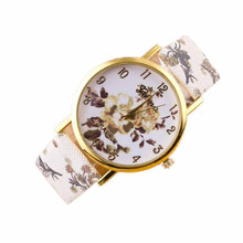 New Fashion Trendy Colorful Flower Popular Women Casual Quartz Watch Wristwatch Fashion Style Bracelet Watch Hot Marketing(China)