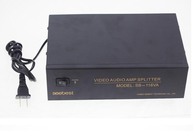 12 way1 Input 12 Output video audio amp spliter RCA Connector AV Splitter 220v 50hz<br>