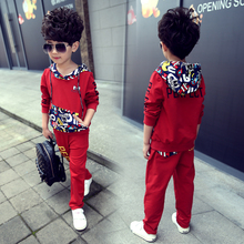 2016 PERFECT models kids clothing family boys clothes sets kids coat + pants Sport boy sets kids clothes 5-14 Y(China)