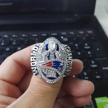 Cost Price High Quality 2016-2017 New England Patriots Championship Ring for Fans Size 6 to 15(China)