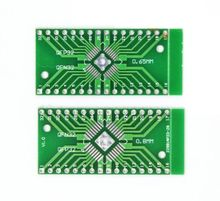 2 pcs TQFP/LQFP/EQFP/QFP32 0.8mm to DIP32 Adapter PCB Board Converter SMD