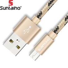 Buy Suntaiho Nylon Micro USB Cable Mobile Phone Cable 0.5m/1m/2m/3m Fast Charging USB Data Cables Samsung/Xiaomi/Huawei/LG for $1.27 in AliExpress store