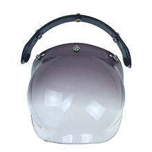 Top quality japan style motorcycle helmet bubble visor motorcycle helmet shield 9 color available fits all kinds of jet helmet(China)