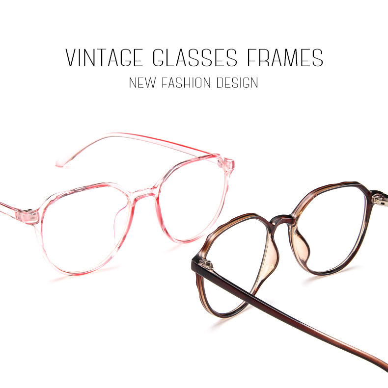37f82498ff Cat Eye Plastic Leopard Glasses Frame Polygon Vintage Spectacle Frames For Women  Men Transparent Eyewear Frames Lunette WL1032