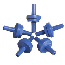 5 Pcs Plastic Dark Blue One Way Air Check Valves Non Return Anti Syphon For Pump(China)