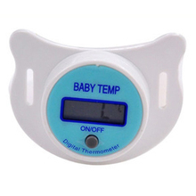Hot LCD Practical Baby Kid Digital Mouth Nipple Pacifier Thermometer Temperature S01(China)