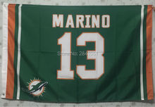 Miami Dolphins Marino Jersey Outdoor Indoor Basketball Flag 3X5 Custom USA Any Team Flag(China)