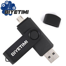 Biyetimi OTG Usb Flash Drive Real Capacity Colorful Rotatable 8GB 16GB 32GB Memory Usb Stick 2.0 Pen Drive Pendrive For Android(China)