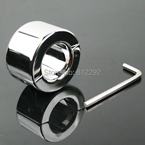 Stainless Steel Polish Ball Stretcher Men Fetish Penis Rings Gear Scrotum Testicle Stretched Sex Toys juguete sexual hombre<br>