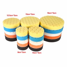 Car-Styling 5pcs Car Sponge Buffing Sponge Polishing Wash Pad Hand Tool Kit For Car Polisher Wax Diagnostic-Tool 3/4/5/6/7 Inch(China)