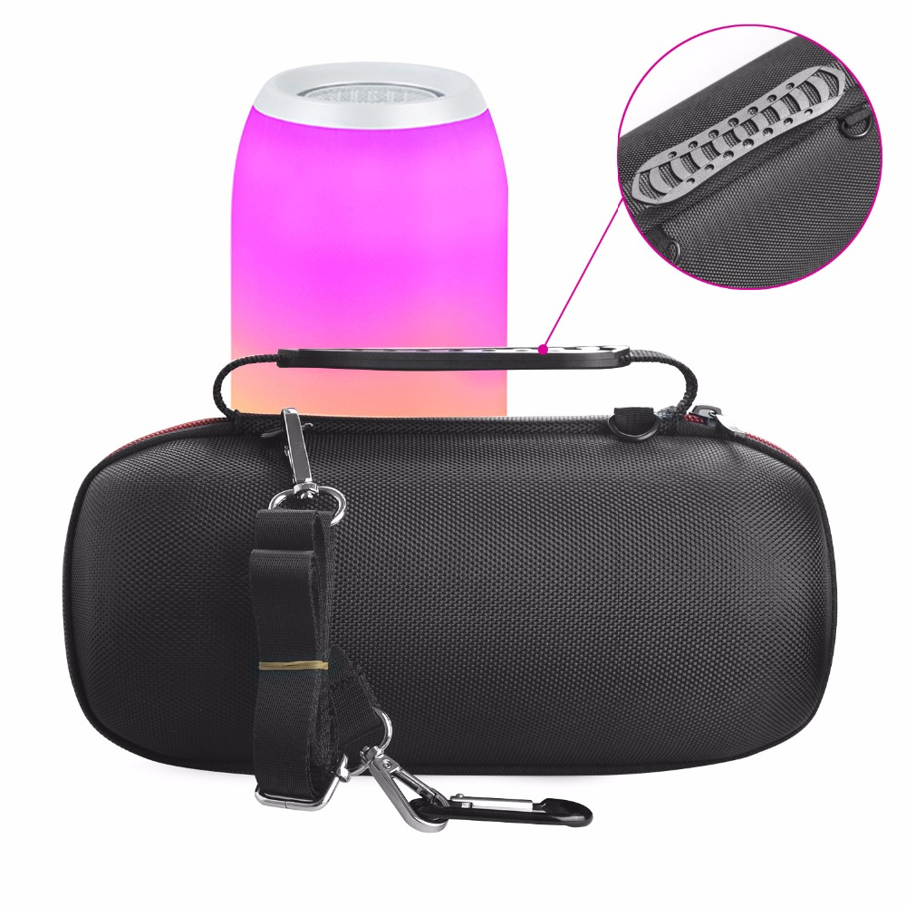 2018 Newest PU Carry Protective Speaker Box Pouch Cover Bag Case For JBL Pulse 3 Pulse3 Wireless Bluetooth Speaker (With Belt)