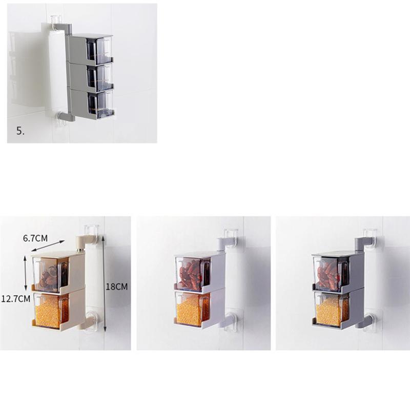 Verdelife Scatola di Condimento Rotante da Cucina Portaspezie a 5 Strati di Grande capacit/à Scatola di Condimento Girevole a 360 /° Portaspezie da Cucina Combinazione Saliera