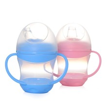 PP Plastic Feeding Bottle Updated Durable Baby 160ML Kids Cup Drinking Bottle Sippy Cups Handles Cute Design(China)