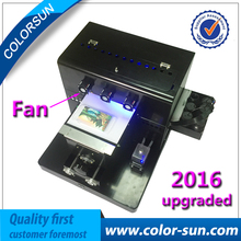 2017 New Arrival A4 size UV led Flatbed printer for Golf Pen Phone case PVC card on good quality