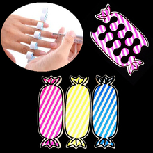 1 Pair Lovely Nail Art Soft Foam Sponge Feet Finger Toe Separator Candy Pattern Pedicure Manicure Tools Care Salon DIY Beauty