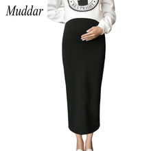 Winter Cotton Maternity Skirt Pregnancy Women Straight Skirts Thick High Waist Pregnant Clothes Bottom Black Pencil Clothings(China)