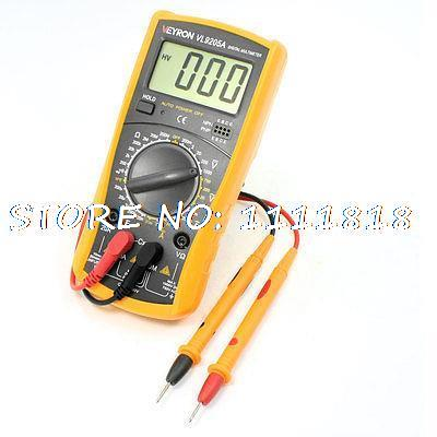 Back Support AC DC Volt Ohm Capacitance Multimeter w Probe Leads<br><br>Aliexpress