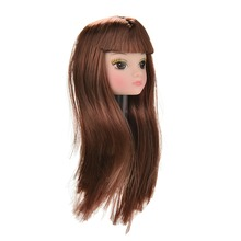 New 1pc Doll Head with Flaxen Long Hair DIY Accessories For Barbie Doll Baby Toys