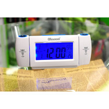 Mini Projection Clapping Controlled Alarm Clocks Dual Projection Voice Controlled LCD Backlight Desk Clock(China)
