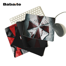 Babaite Cool Resident Evil Umbrella Corp Logos Personalized Computer Notebook Mouse Mat Resistant Dirt 180x220mm Mouse Pad(China)