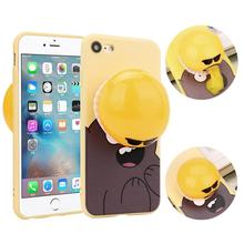 2017 Hot selling Decompression Novelty Gag Toys Spitting Yolk Egg Prank Clear Silicone Soft Case Cover For IPhone 7 4.7