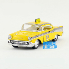 Free Shipping/KiNSMART Toy/Diecast Model/1:40 Scale/1957 Chevrolet Bel Air Classical Taxi/Pull Back Car/Collection/Gift/Children(China)