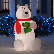outdoor giant Christmas inflatable shivering polar bear for advertising