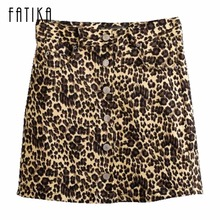 Buy FATIKA Fashion Women Mini Skirt Leopard Print High Waist A-Line Skirts Summer Autumn Skirts 2017 for $11.04 in AliExpress store