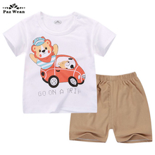 Little Toddler Boys Summer Clothing Short Sleeve tshirt T shirt Pants Tops Clothes Sets Baby Boys Suit shorts For 1 2 3 Year Boy