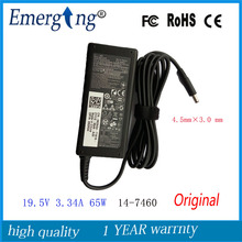 19.5V 3.34A 65W  4.5X3.0mm Original AC Adapter For Dell Inspiron 11 13  15 3000 Series (3551)  P28E P57G 15 3551 3552 3558 5551
