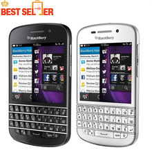 Original Unlocked Blackberry Q10 Mobile Phone 3G 4G Network 8.0MP Dual-core 1.5 GHz 2G RAM 16G ROM QWERTY Keyboard Free Shipping